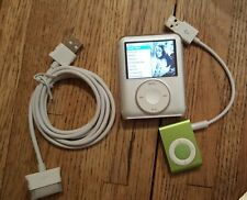 Lot Apple iPod nano + Shuffle Mp3 Bundle Clip Music Songs