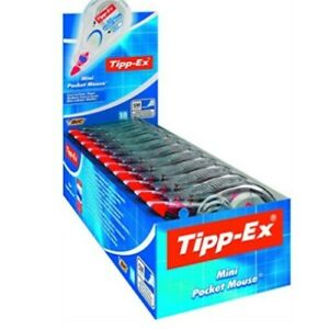 Tipp-Ex Mini Pocket Mouse 5 mm x 6 m Correction Roller Pack of 10, 5 & 2 Singles