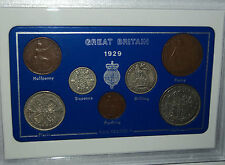 1929 GB Great Britain British Vintage Coin Set (88th Birthday Gift Birth Year)