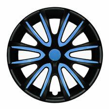 14 Inch Hubcaps Wheel Rim Cover Matt Black With Blue Insert 4pcs Set Fits Camry