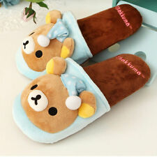 Ladies soft Cute Blue Pajama Rilakkuma Bear Indoor Slippers High quality Sheos