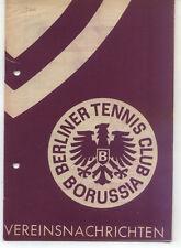 Tennis Borussia Berlin - Vereinsnachrichten - März / April 1960