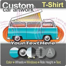 Custom T-shirt for 68-79 VW T2 Kombi Bus Camper Westfalia Front Open Pop Top Fan