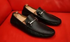 $789.00 !! GUCCI MEN BLACK EXCLUSIVE  LEATHER HORSE BIT LOAFERS SHOES  SIZE 10