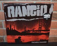 "RANCID - Trouble Maker, Ltd 1st Press BLUE VINYL LP + Bonus 7"" & Download NEW"