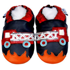 FreeShip Littleoneshoes SoftSole Leather Baby Infant FireTruck Navy Shoes 18-24M