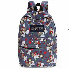 Teddy Bear Patterned Jansport Bag (White)