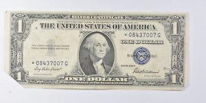Crisp AU/Unc 1935-F Star ERROR Replacement Note - Silver Certificate $1 *902