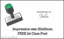 Handmade By Rubber Stamp Personalised Custom Made Traditional Style