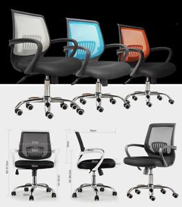 Silla estudio / oficina con ruedas giratoria - colores - mesh - base cromada