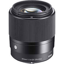 SIGMA 30mm F1.4 DC DN contemporaneo LENS in Sony E Mount Fit (UK Stock) nuovo con scatola