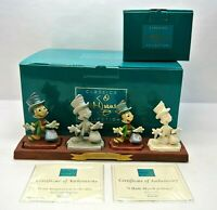 DISNEY WDCC 1225773 FROM IMAGINATION TO REALITY + 1217937 + Boxes/COA's