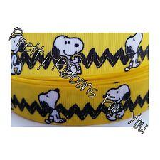 "Snoopy 1.5"" wide high quality grosgrain ribbon 5 yards listing"