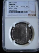 USA 2018 D Kennedy 50 Cents NGC Sample Hong King Coin Show April 2018