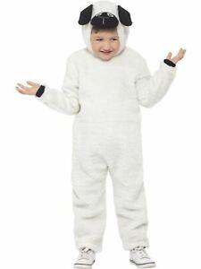 Sheep Costume Boys Girls Kids School Nativity Fancy Dress Outfit Farm Story Lamb