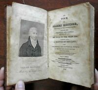 Tour of James Monroe 1820 S Putnam Waldo travelogue & biography old leather book