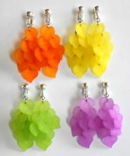 BRIGHT & COLOURFUL CASCADES  - CLIP ON EARRINGS (hook options)