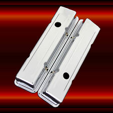 Valve Covers for SBC Small Block Chevy Engines Chrome Plated Factory Height
