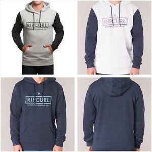 BNWT Rip Curl Men's Corp Bloc Pullover Sweatshirt Fleece Hoodie Jumper Tops S-XL