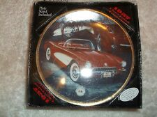 nef. Enesco Classics Collection W/ Box 1957 Chevrolet Corvette Plate W/ Stand