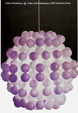 Ultra Rare Verner Panton 'Ball Lamp' Poster Luber Suisse 1968 Mid Century Modern