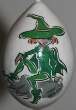 gourd Easter egg, garden or St Patrick's ornament with elf