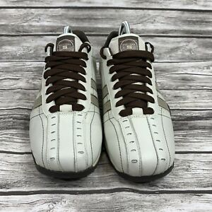 Skechers Talus Burk Lace Up Leather Mens Shoes Beige Size 7.5 SN 50661