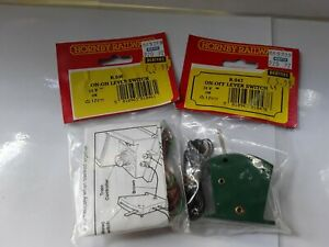 2 BRAND NEW Hornby / Triang On/Off Lever Switches - 1 x R047 + 1 x R046