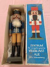 Alt Nussknacker VEB Volkskunst Aue Schneeberg DDR Um 1960/70 Karton Erzgebirge