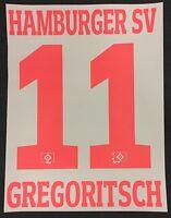 HSV Hamburger SV GREGORITSCH Player Flock 25cm fürs adidas Home Trikot 2016-2017