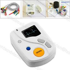 CONTEC 48h Dynamic ECG Holter 12-lead ECG synchro SoftwareAnalyzer HRV, Recorder