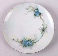 """Antique Thomas Sevres Bavaria Porcelain Plate Blue Flower Forget-Me-Nots 6.5"""""""