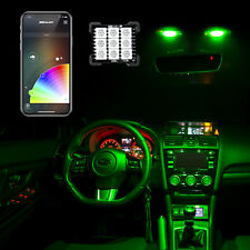 Bluetooth RGB LED Panel Car/Truck Cabin lighitng w/ T10/BA9s/Festoon Adapters