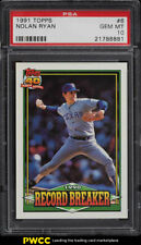 1991 Topps Nolan Ryan RECORD BREAKER #6 PSA 10 GEM MINT (PWCC)