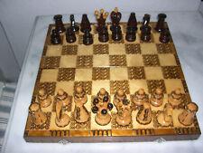 Edles Schachspiel aus Holz, klappbar, 40x40