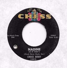CHUCK BERRY * 45 * Nadine * 1960's * Good/ VG * ORIGINAL USA CHESS Vinyl Press