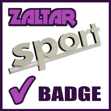 Insignia de plata 3d Emblema Cromado Sport Decal Sticker Autoadhesivo Letras