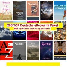 265 Deutsche Top eBooks Mega PLR Paket mit PLR und MRR Lizenz + Shopgeneratotor