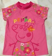 New Peppa Pig Rash Vest Kids Swim Top Size 3 or 6 Free Post UPF50+