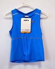 Louis Garneau jersey cycling running triathalon small blue NOS
