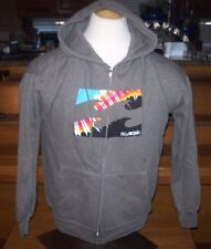 NEW BILLABONG HOODIE JACKET SWEATSHIRT gray logo men sz medium