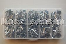 Free Ship! 90 Pcs Fishing Rod Guide Tip Repair Kit Rod DIY Eye Rings