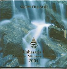 FINLAND 2004 BU SET 8 COINS IN OFFICIAL FOLDER