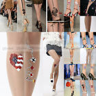 1X New attoo Tights Trend Sexy Tattoo Socks Transparent Pantyhose Stockings