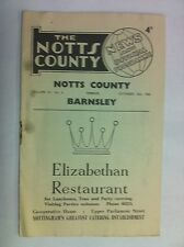 1960 Football programme - Notts County v Barnsley 10th September (SP714)
