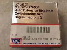 Mamiya 645 Pro Auto Extension/Extender Ring No. 2 (24 mm) - New - Made in JAPAN