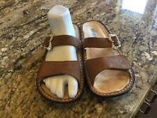Alegria By PG Lite Women's 40 9.5-10 Tan Bronze Glitter Butterfly Sandals Shoes