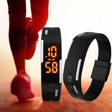 SKMEI Mens Womens Sport Bracelet LED Digital Shock Waterproof Date Watch Black