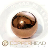 "1 1/8"" (4 oz) 28mm Pure Copper Bullion Sphere Native Energy Therapy Ball Inch"
