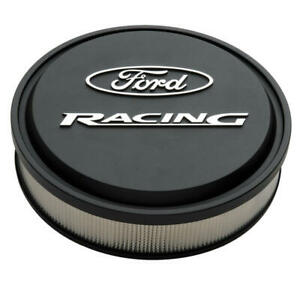 Proform Air Cleaner Assembly 302-380; Ford Racing Black Crinkle Aluminum 13 x 3""